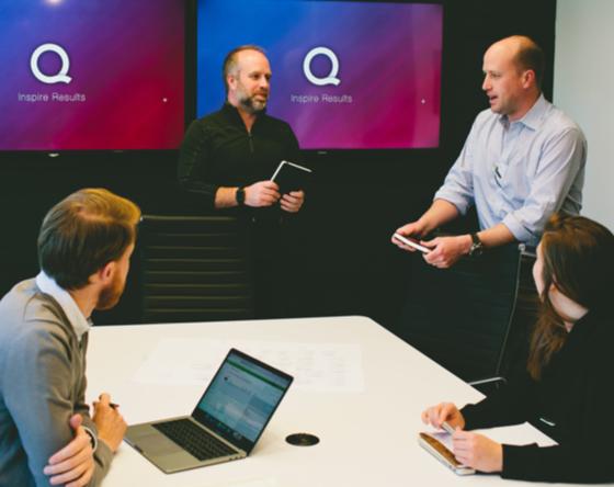 Quore employee meeting