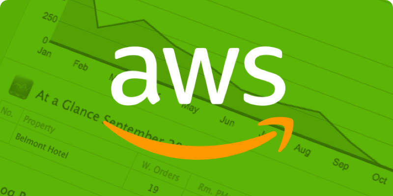 AWS logo on a green background
